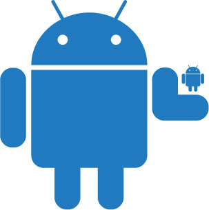7. Droid Holding Droid