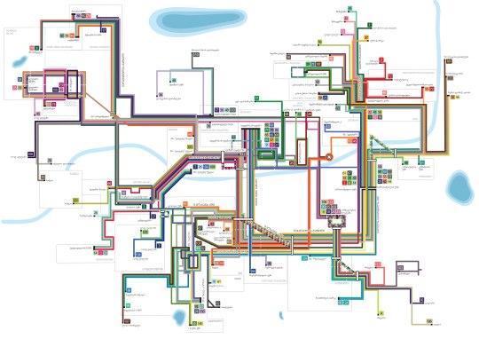 თბილისის სამარშრუტო სქემის რუკა
